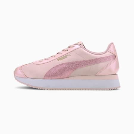 Turino Stacked Glitter SoftFoam+ Women's Sneakers, Peachskin-Peachskin, small-IND