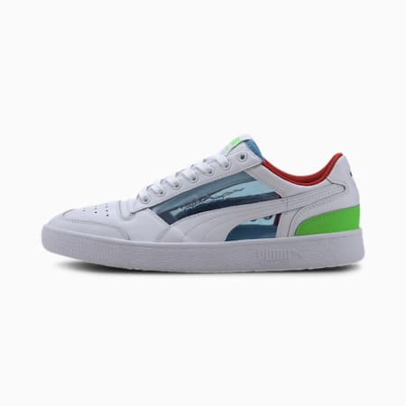 Ralph Sampson Lo Glass Men's Sneakers, P WhT-Ethereal Blue-Fluo Grn, small
