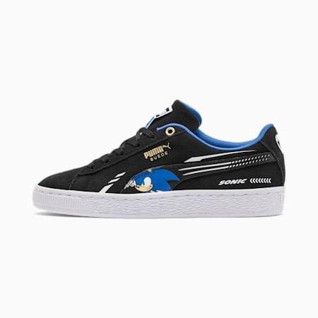 PUMA x SONIC Suede Youth Trainers, Puma Black, small-SEA