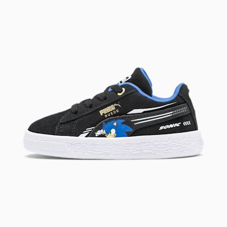 PUMA x SONIC Suede Toddler Shoes, Puma Black, small
