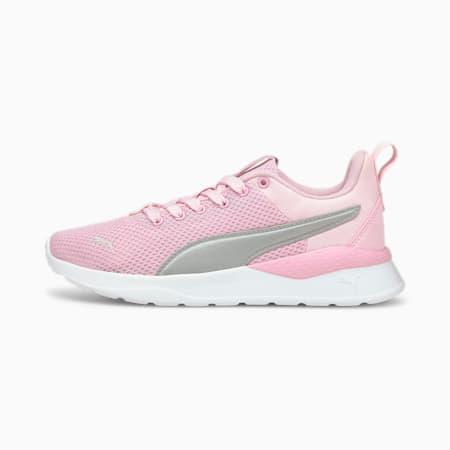 Anzarun Lite Youth Trainers, Pink Lady-Puma Silver, small-GBR