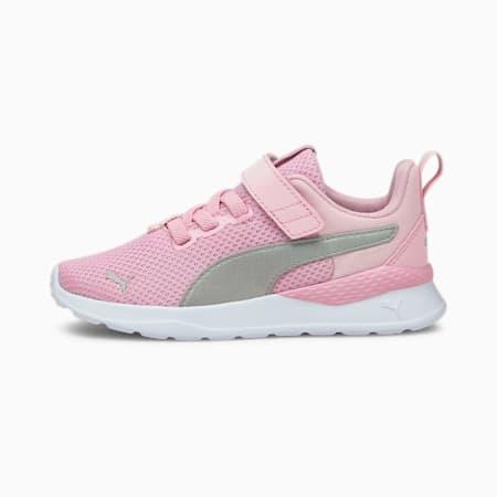Anzarun Lite Kids' Trainers, Pink Lady-Puma Silver, small