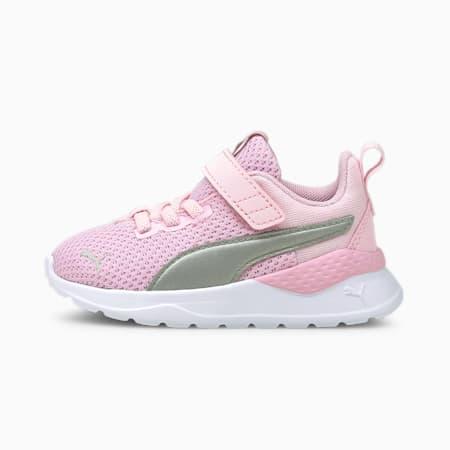 Anzarun Lite Babies' Trainers, Pink Lady-Puma Silver, small