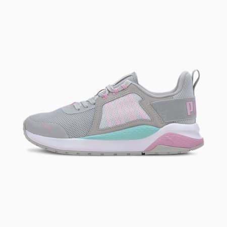 Anzarun Sneakers JR, Gray -Pale Pink-ARUBA BLUE, small