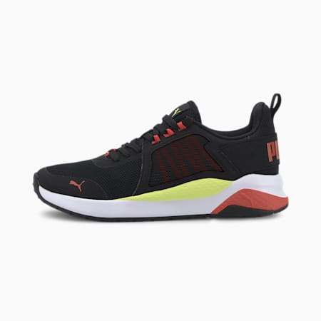 Anzarun Jr Sneakers, Puma Black-Paprika-Sharp Green, small-IND