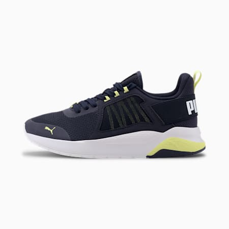 Anzarun Knit Youth Trainers, Peacoat-Sunny Lime-P White, small-SEA