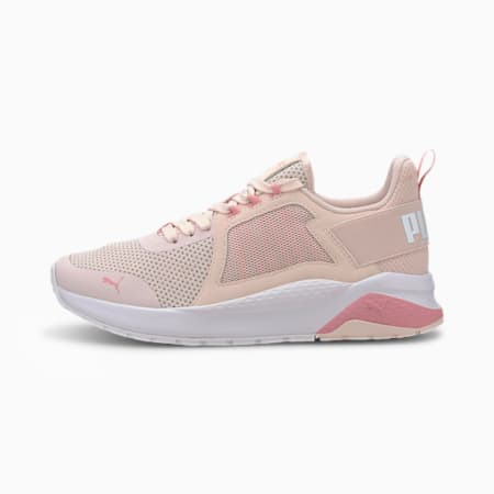 Anzarun Knit Youth Trainers, Rosewater-Peony-Puma White, small-SEA