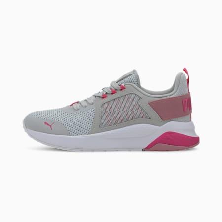 Anzarun Knit Sneakers JR, Gray Violet-Pink-Foxglove, small