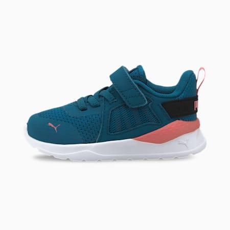 Anzarun Knit Toddler Shoes, Digi-blue-Paprika-Puma Black, small