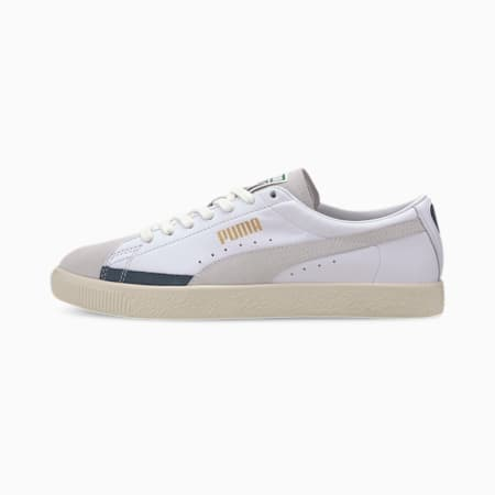 Basket 90680 L Sneakers, Puma White-W Wht-Dark Denim, small-IND