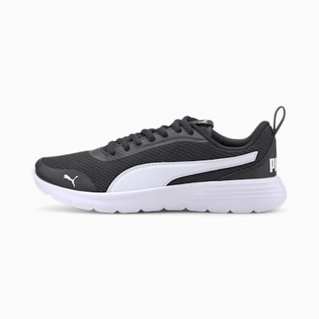 Flex Renew Youth Trainers, Puma Black-Puma White, small-SEA