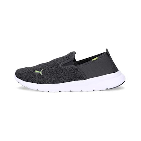 Drive Essential Slip On MU IDP SoftFoam Walking Shoes, Dark Shadow-Limepunch, small-IND