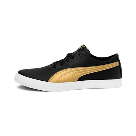 Cayden IDP Women's Sneakers, Puma Black-Golden Orange, small-IND