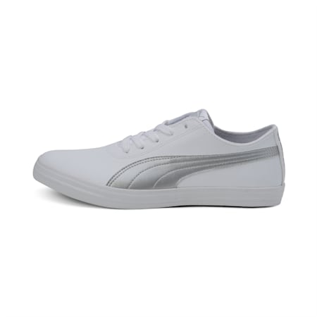 Cayden IDP Women's Sneakers, Puma White-Silver, small-IND