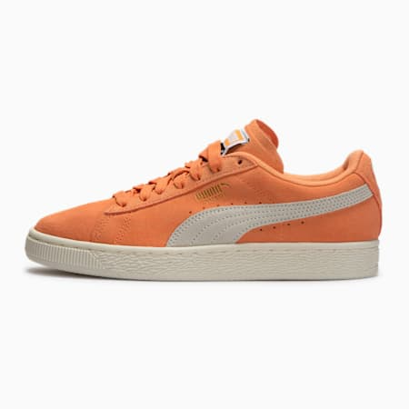 Suede Classic+ Women's Sneakers, Cantaloupe-Marshmallow, small