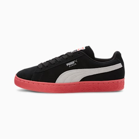Suede Classic+ Women's Sneakers, P.Black-P.White-IgnitePink, small