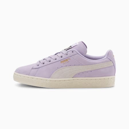 Suede Classic+ Women's Sneakers, Purple Heather-Marshmallow, small
