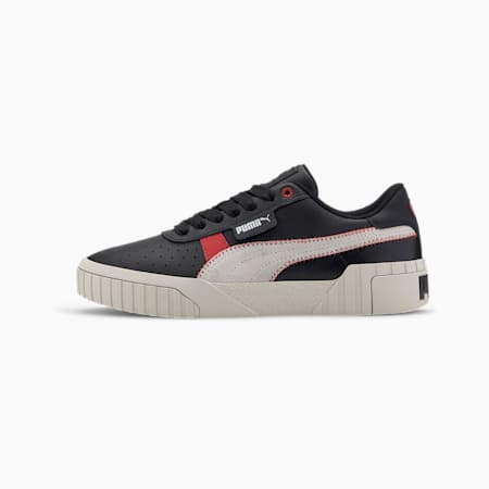 Cali Retro Women's Trainers, Puma Black-Puma White, small-SEA