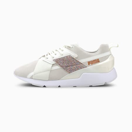 MUSE X-2 Shimmer Women's Trainers, Marshmallow-Puma White, small-SEA