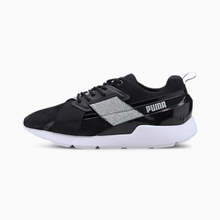 Muse X-2 Shimmer Women's Sneakers, Puma Black-Puma Silver, small