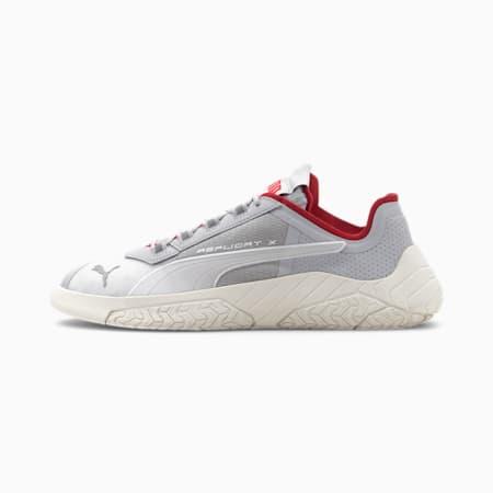 Zapatos de automovilismoReplicat-XSuedeTech para hombre, Gray Violet-Whisper White, pequeño