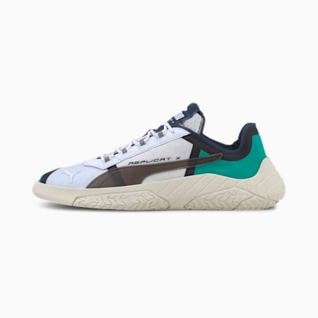 Replicat-X SD Tech Trainers, Puma White-Spectra Green, small