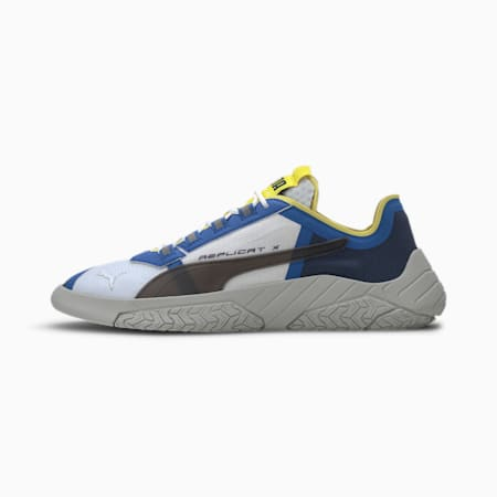 Replicat-X Suede Tech Men's Motorsport Shoes, Puma White-Palace Blue, small