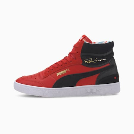 Ralph Sampson Mid Chicago Trainers, HighRiskRed-PumaBlk-Puma Wht, small-SEA