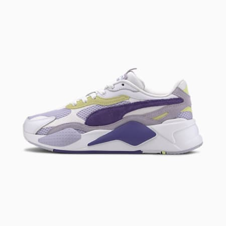 RS-X3 Mesh Pop Women's Trainers, Puma White-Purple Corallites, small