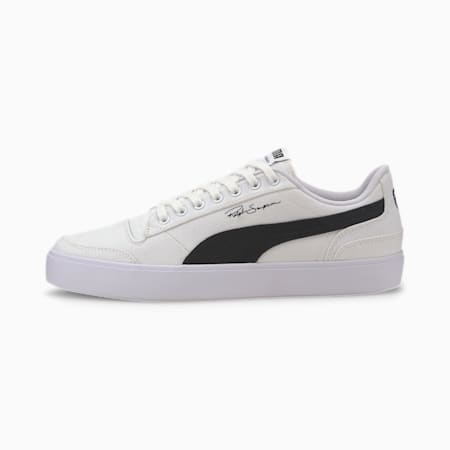 Ralph Sampson Vulcanised Canvas Trainers, Puma Wht-Puma Blk-Puma Wht, small