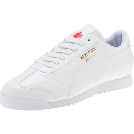 Roma NYC Apple Men's Sneakers, Puma White, small