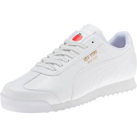 Roma NYC Apple Women's Sneakers, Puma White, small