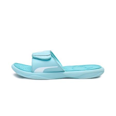 Royalcat Comfort Women's Slides, Blue Glow-Angel Blue-White, small-IND