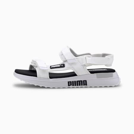 Future Rider Sandals, Puma White-Puma Black, small