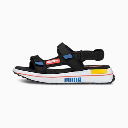 Future Rider Sandals, Black-Star Sapphire-Popy Red, small