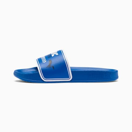PUMA x SONIC Leadcat Little Kids' Slides, Palace Blue-Puma White, small