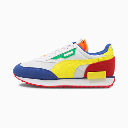 Future Rider Play On Sneakers JR, White-Bla Yellow-BlazBlue, small
