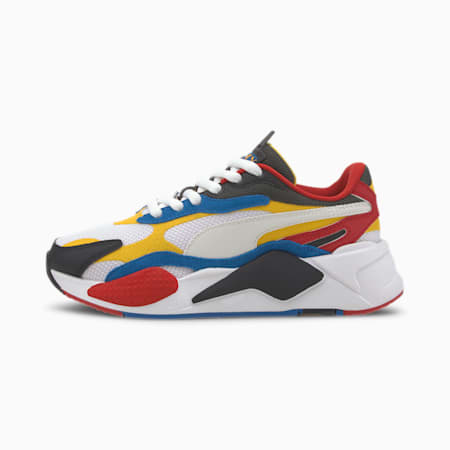RS-X Puzzle Youth Sneaker, Puma W-Spectra Yellow-Puma B, small