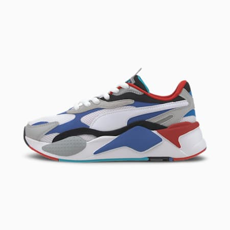 RS-X Puzzle Youth Sneaker, Puma W-DazzlingBlue-HighRise, small