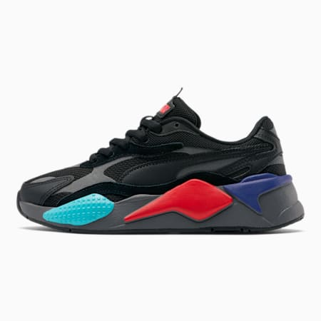 RS-X³ Puzzle Sneakers JR, P.Black-P.Black-H.Risk Red, small