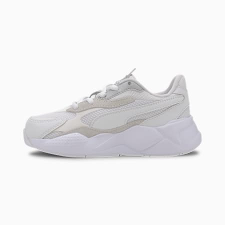 RS-X Puzzle Kids' Trainers, Puma White-Puma Silver, small