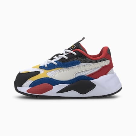 RS-X Puzzle AC Babies' Trainers, Puma W-Spectra Yellow-Puma B, small
