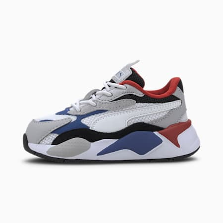 RS-X Puzzle AC Babies' Trainers, Puma W-DazzlingBlue-HighRise, small