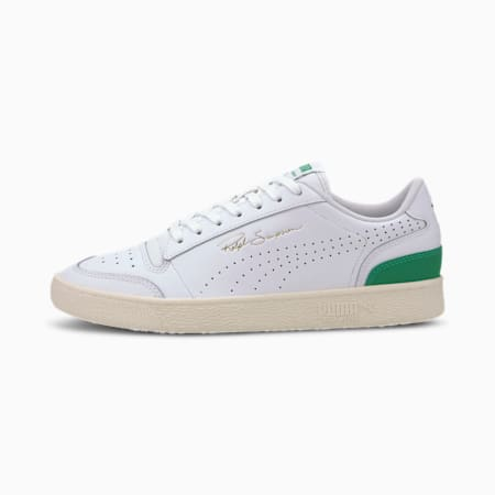Ralph Sampson Lo Perforated Soft Trainers, P Wht-AmazonGreen-WhisperWht, small