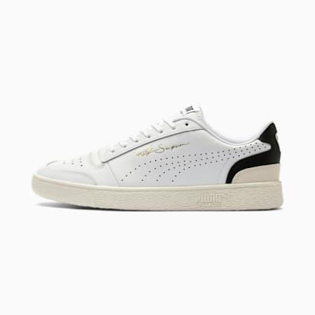 Ralph Sampson Lo Perforated Soft Sneaker, Puma Wht-Puma Blk-Whispr Wht, small