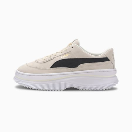 Deva Suede Women's Trainers, Marshmallow-Puma Black, small