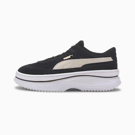 DEVA Suede Women's Sneakers, Puma Black-Marshmallow, small-GBR