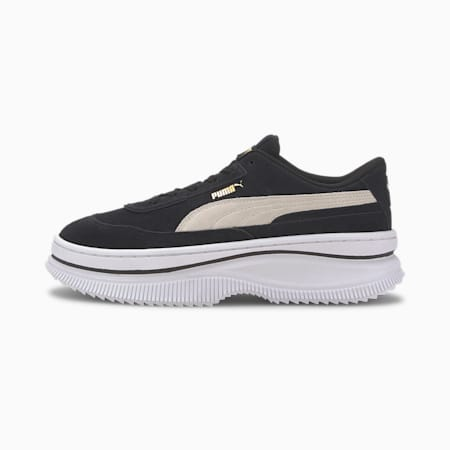 DEVA Suede Women's Sneakers, Puma Black-Marshmallow, small