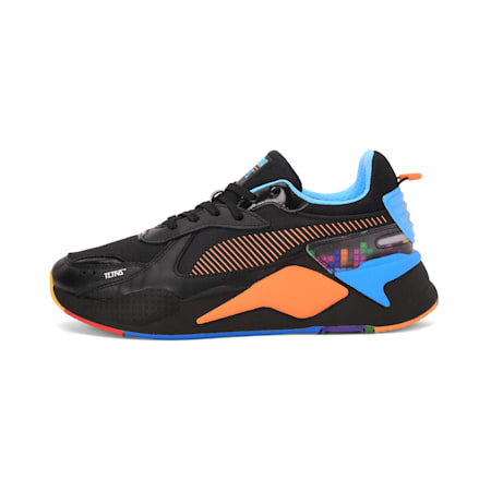 PUMA x TETRIS RS-X Shoes, Puma Black-Luminous Blue, small-IND