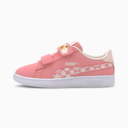 Smash V2 Bees V Kids' Trainers, Peony-Rosewater-Dandelion-PW, small